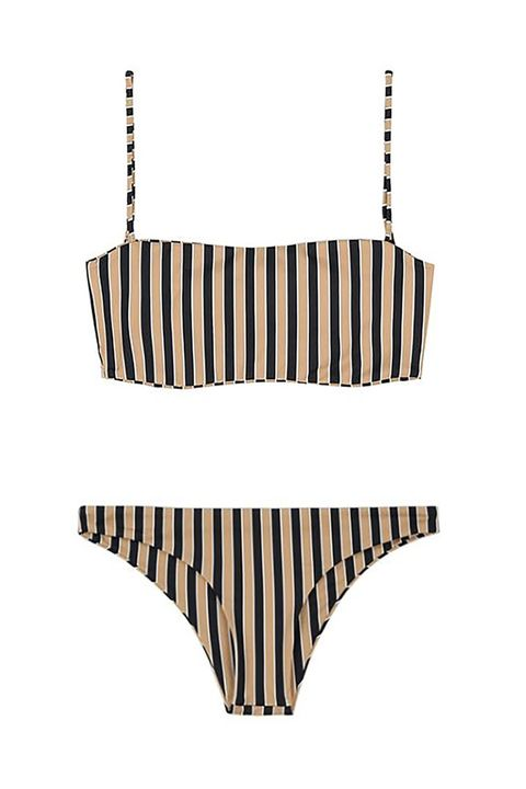 25bcae7aad 16 of 16. Best for a European Vacation. The Striped Crop Bikni