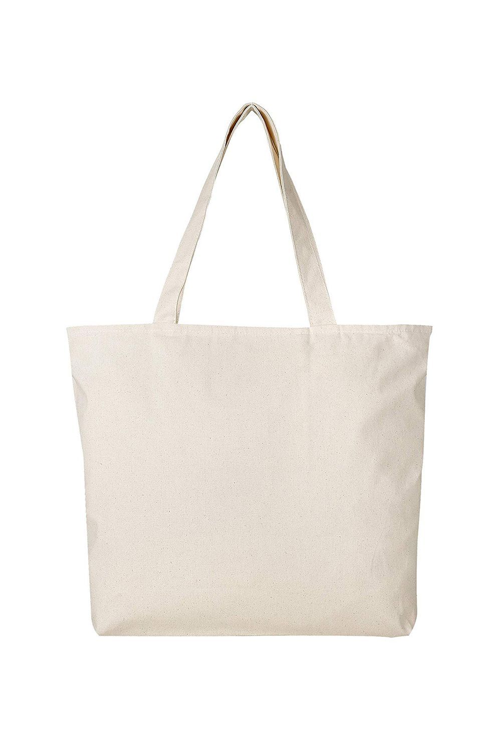 Best for Tossing Everything In Reusable Canvas Tote Bags BagzDepot $19.99 SHOP IT Multi-purposes totes are a win-win in my book. This one can easily hold your groceries from the farmer's market and with a quick wash, turn into a simple tote bag for work.