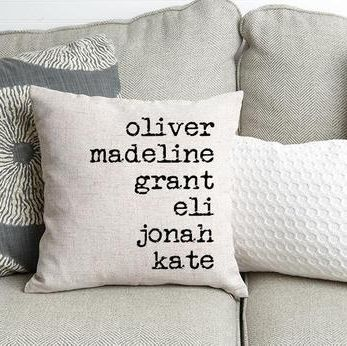 Family Names Throw Pillow Covers Qualtry etsy.com $14.39 SHOP NOW When you can't be there in person, be there in pillow form with this personalized cover. Mom will love seeing all her kids names all in one place (and getting along).