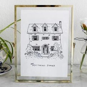 Customized Home Drawing LittleCrownCreative etsy.com $50.00 SHOP NOW Not into a couples' illustration?