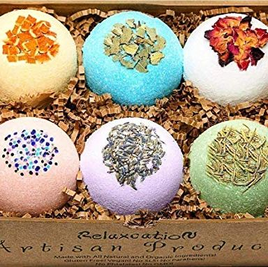 Organic Bath Bombs Gift Set Relaxcation amazon.com $59.97 $26.87 (55% off) SHOP NOW Pamper your mom with a bath bomb for every occasion. This gift set comes in six relaxing scents—all made sans dyes, phthalates, and parabens.