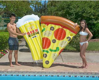Poolmaster Pizza & Beer Swimming Pool Float Combo Pack
