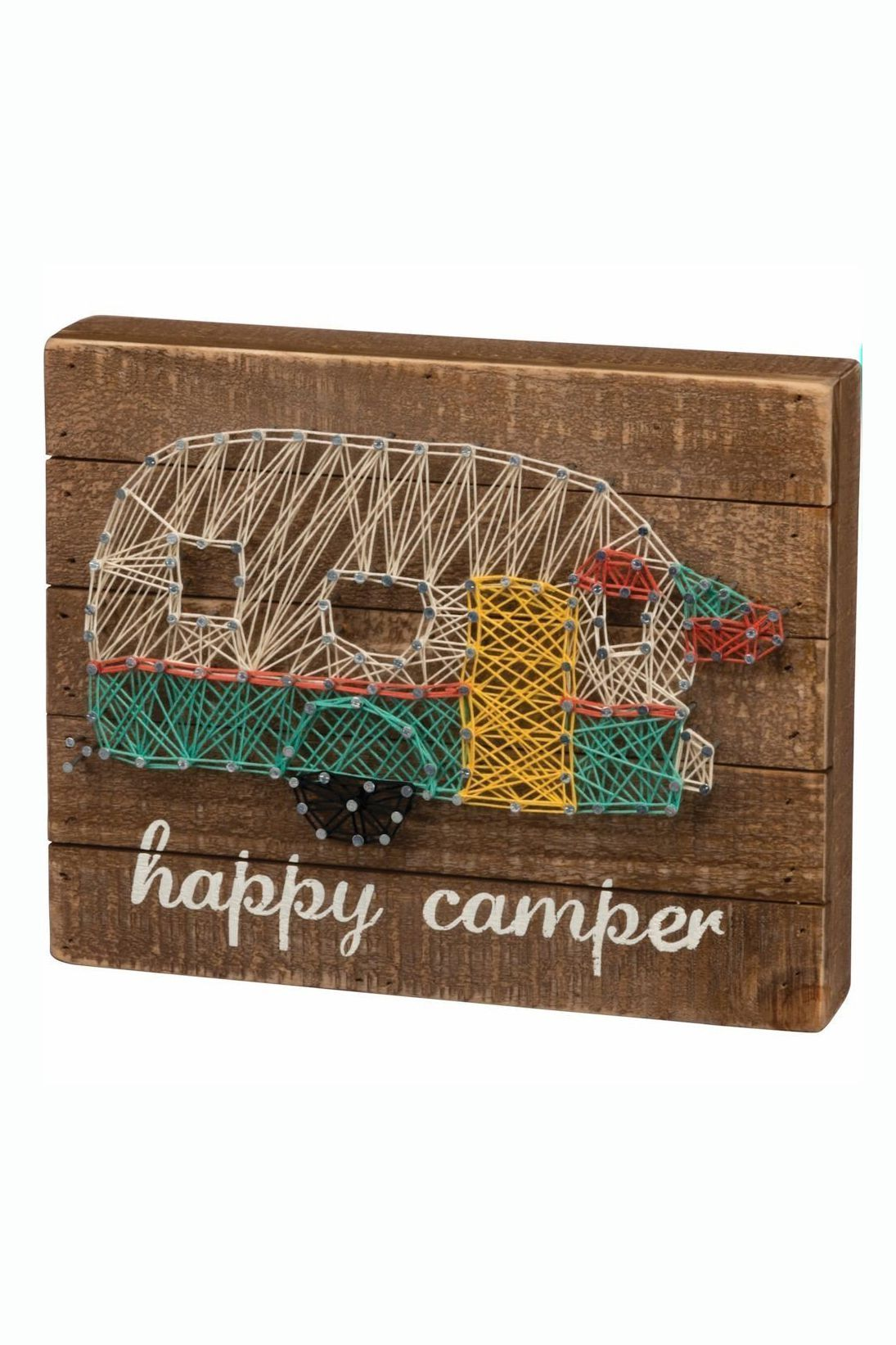 photo regarding Free Printable Camping Signs named Delighted Camper
