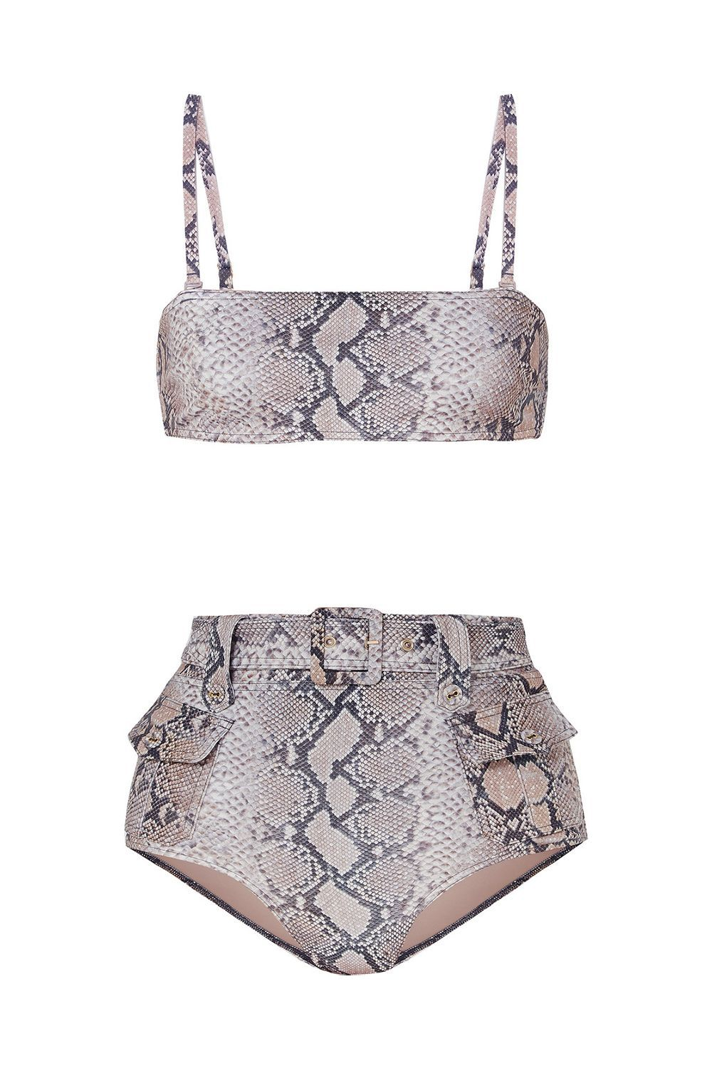 Best for Trend-Driven Gals Corsage Safari Snake-Print Belted Bikini Zimmermann net-a-porter.com $405.00 SHOP IT Last season was all about the gingham print. This season, the focus is on snakeskin.