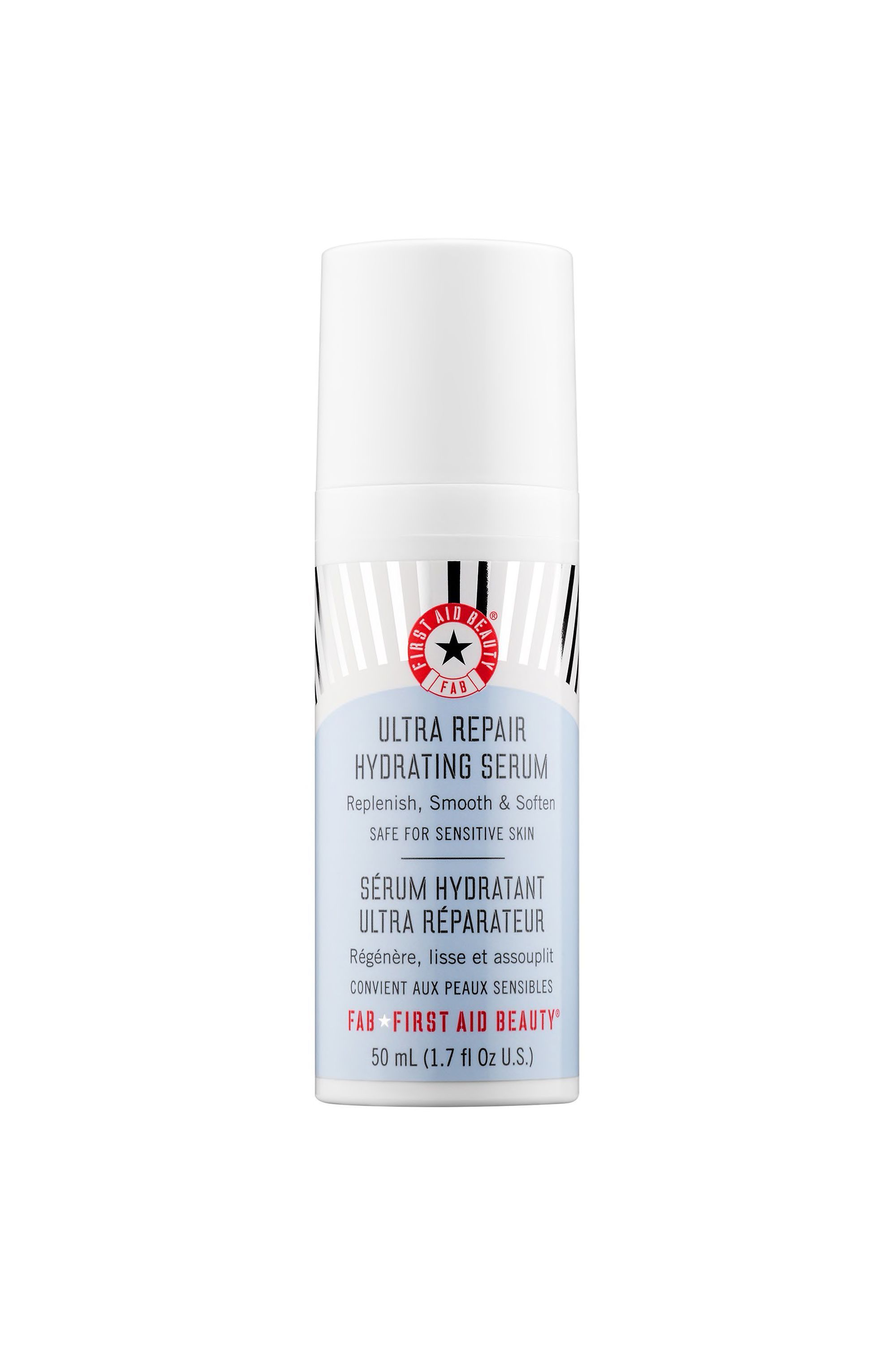 The Fixer Ultra Repair Hydrating Serum First Aid Beauty dermstore.com $28.80 SHOP NOW If you're looking for a good hydrating serum without retinol or lactic/glycolic acid (for the sensitive-skinned among us), this is the formula for you. The lightweight product sinks into your complexion to provide an immediate burst of hydration.