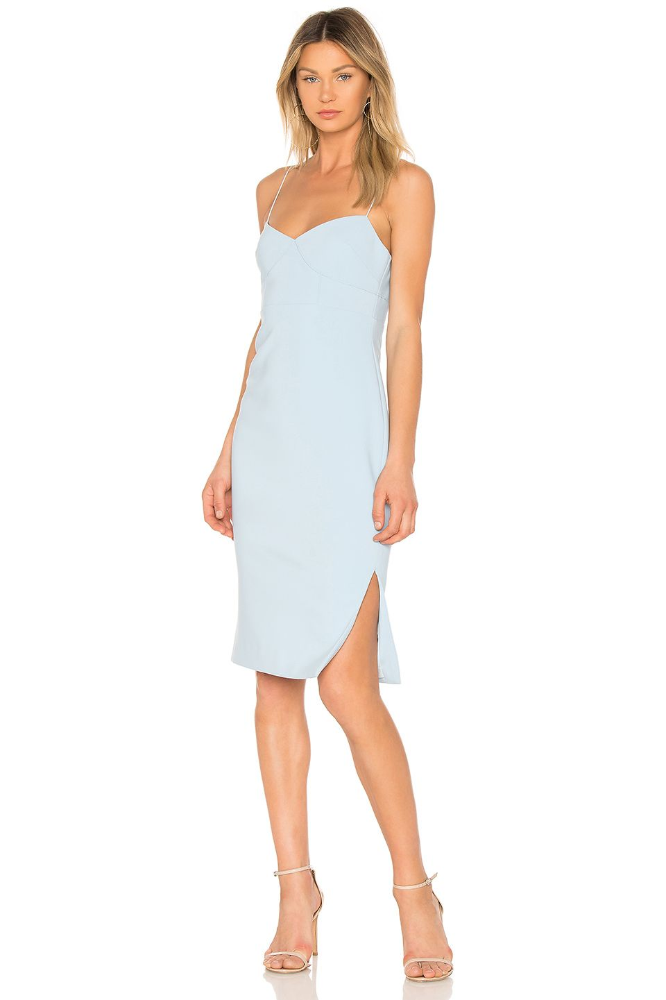 Best for Being Understated Spaghetti-Strapped Pastel Dress LIKELY revolve.com $188.00 SHOP IT I'm all for effortless dressing and, damn, if this style from Finders Keepers isn't the definition of that. The thin straps and slit details aren't flamboyant, but rather, provide a delicate, feminine touch.