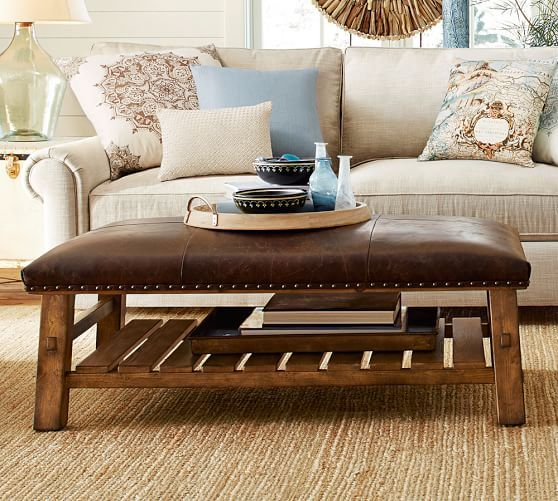 Leather Ottoman Coffee Table 4