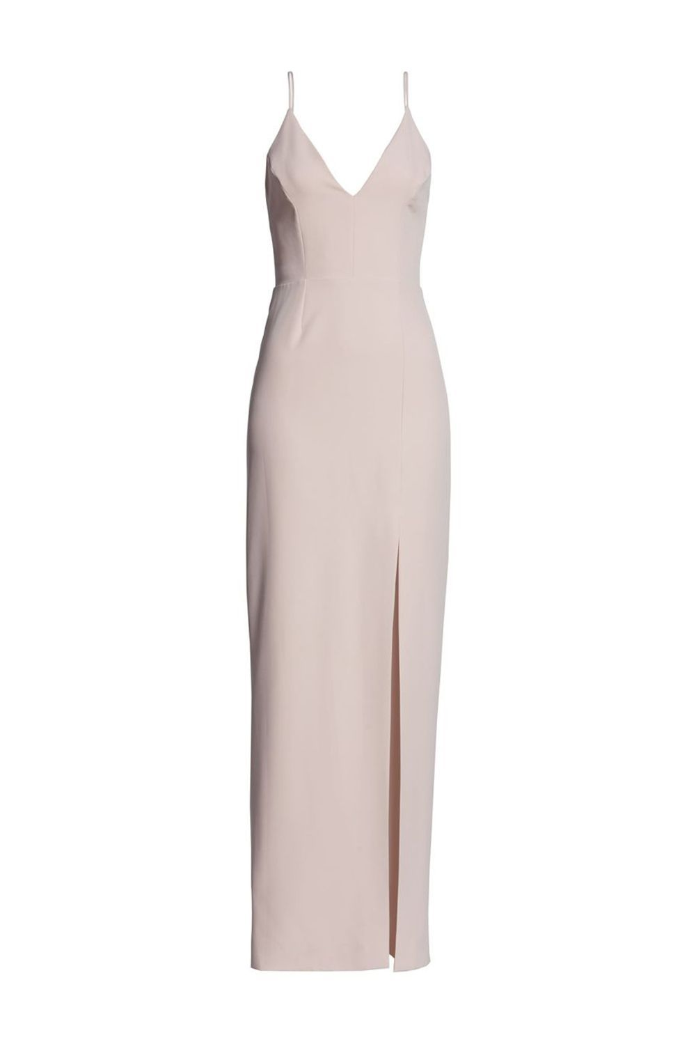 Simplest (Yet Still Chic) Scuba Crepe Evening Dress WAYF nordstrom.com $148.00 SHOP IT This floor-length, thin strapped dress masters understated glamour. Made in a forgiving scuba material, it'll be a flattering choice to don at formal weddings.