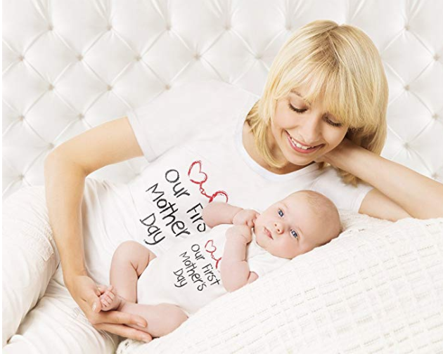 Personalised Happy First Mothers Day 2020 Baby Grow Baby Gifts First Mum Gifts