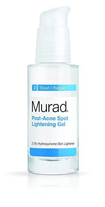 """Best for Brightening Post-Acne Spot Lightening Gel Murad sephora.com $67.00 SHOP NOW Murad's Post-Acne treatment is powered with hydoquinone, """"a powerful skin-lightening ingredient used to reduce post-acne discoloration and dark spots,"""" Dr. Sperling says. The gel also mixes in tea tree oil, which is known for treating everything from cuts and bites to soothing irritated skin."""