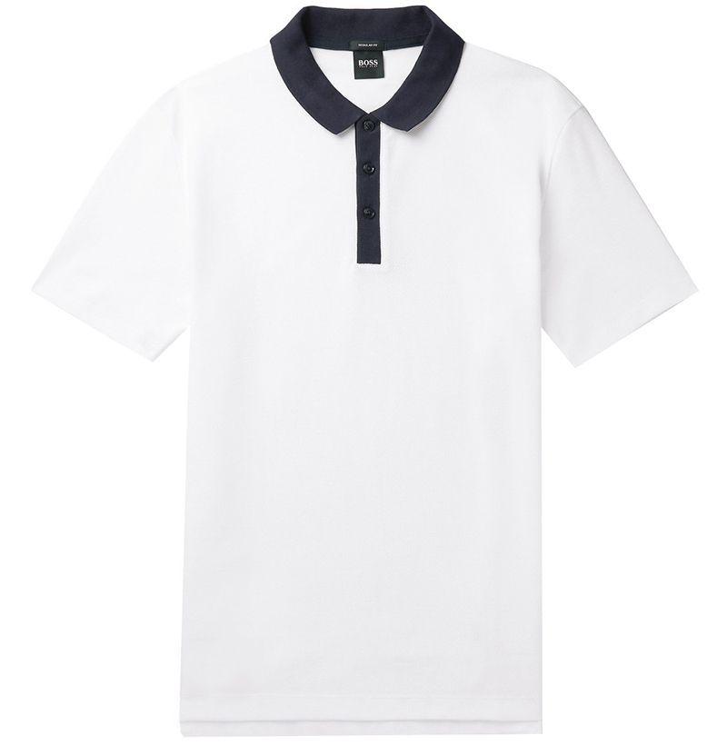 Hugo Boss Honeycomb Cotton Polo Shirt