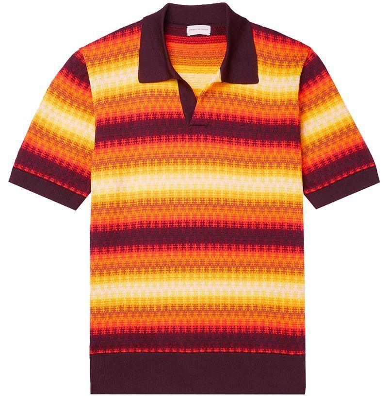 Dries Van Noten Jacquard Polo Shirt
