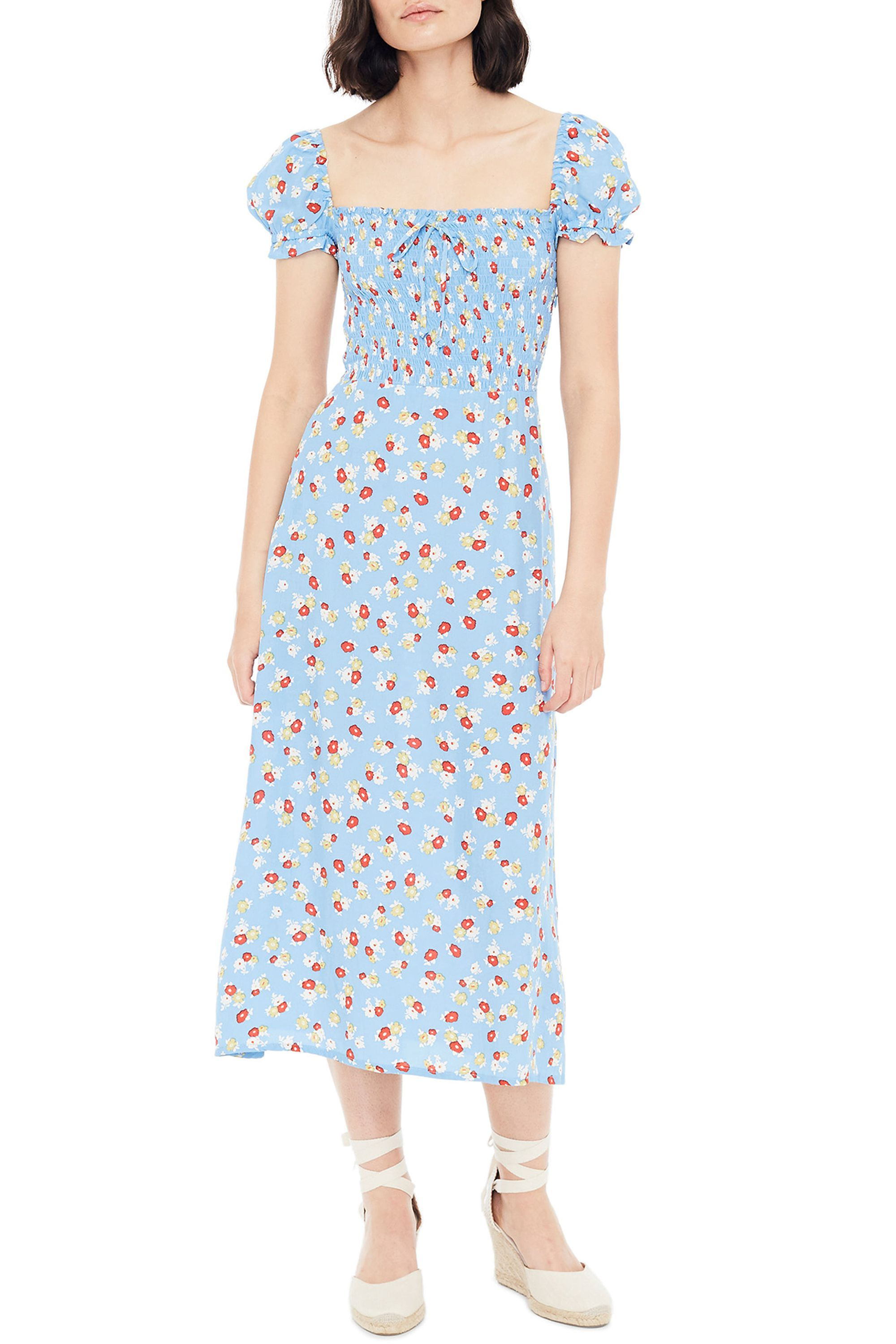 Castilo Jasmin Midi Dress Faithfull the Brand nordstrom.com $189.00 SHOP NOW We could own every floral dress in existence, and still need a new one. The smocked bodice on this style is a sweet detail, and works well with feminine accessories like lace-up espadrilles.