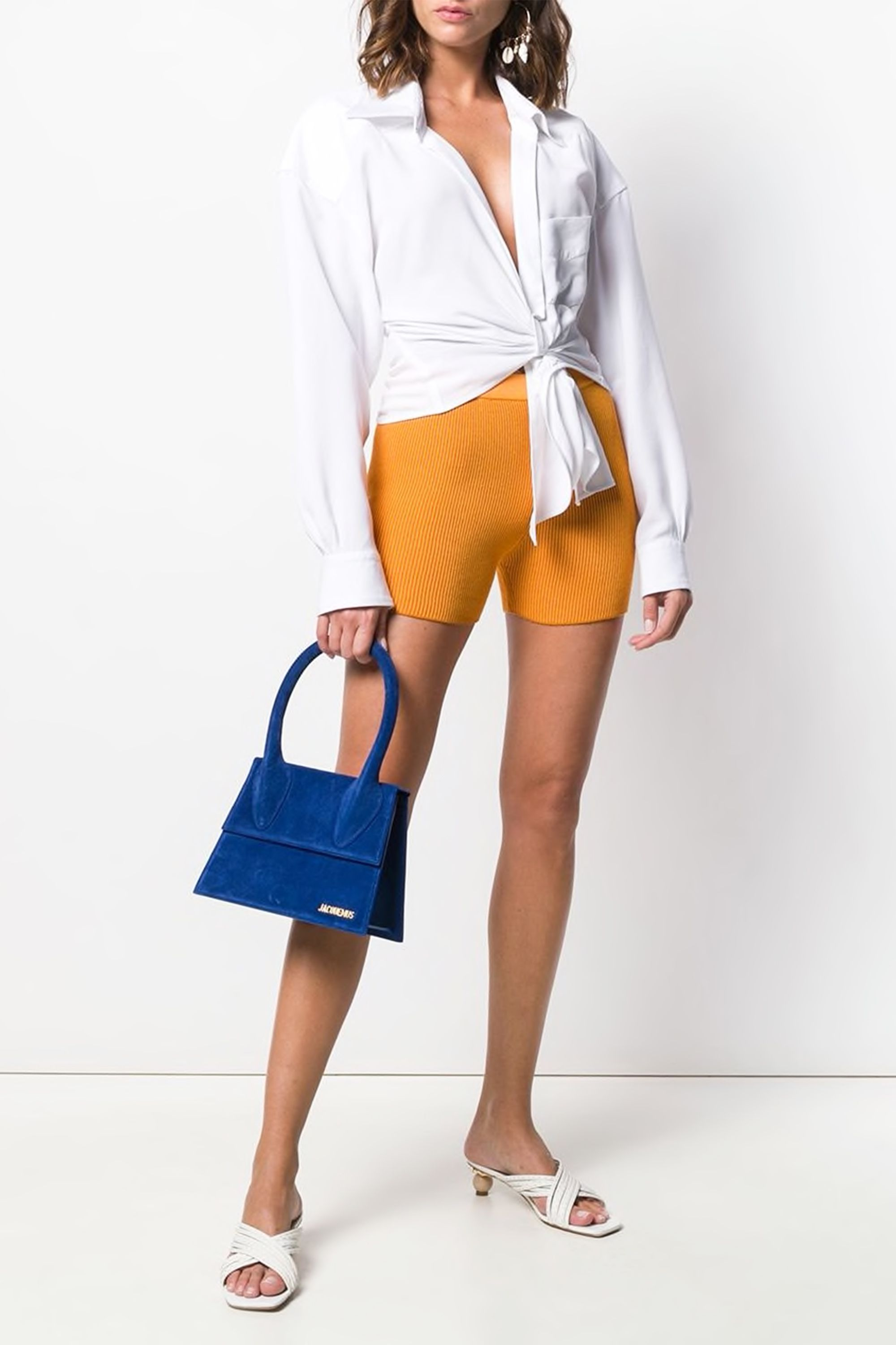 Striped Shorts Jacquemus farfetch.com $186.89 SHOP NOW Still undecided on biker shorts? Now's the time to test the waters— just add classics like a white button down and cute white heels.