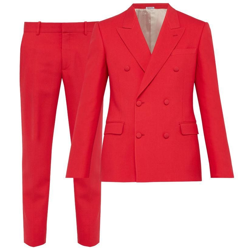Alexander McQueen Double-Breasted Suit