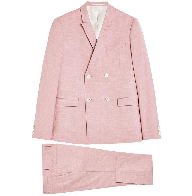 Topman Pink Textured Suit