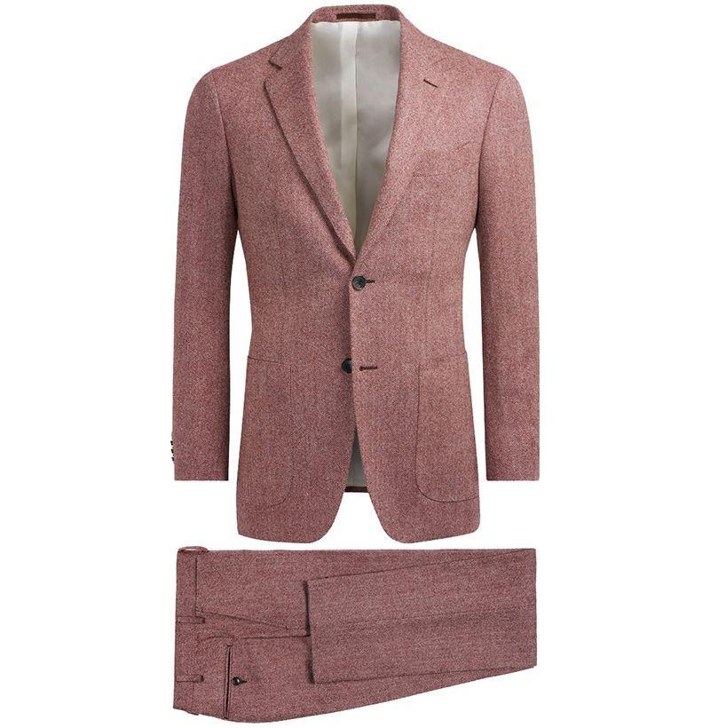 Suitsupply Havana Pink Herringbone Suit