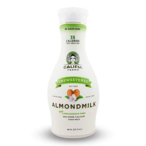 "Almond Milk Califia Farms $67.00 SHOP NOW Almond milk is smooth, affordable, and super versatile. ""I recommend opting for unsweetened almond milk that does not contain extra sugars,"" says Maggie Michalczyk, RD."