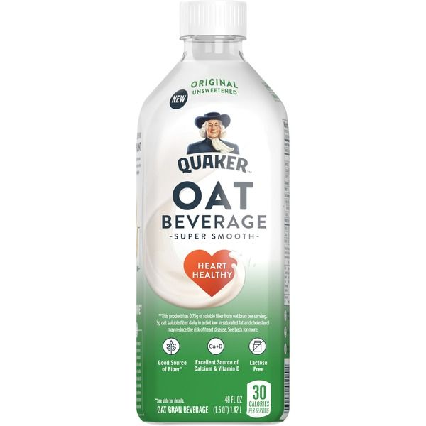 "Oat Milk Quaker instacart.com $5.07 SHOP NOW This plant-based milk has a smooth taste and texture, so it's perfect for smoothies, lattes, and other creamy foods. ""I like this new oat beverage from Quaker because, in addition to being lactose-free, it's an excellent source of vitamin D and calcium,"" says Michalczyk."