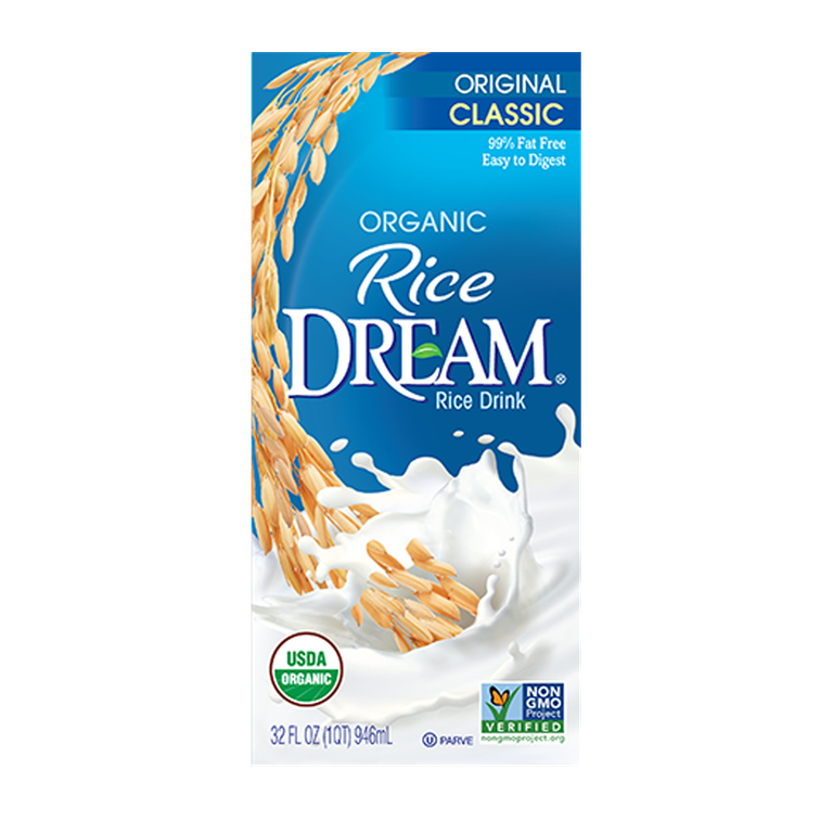 "Rice Milk Dream Blends amazon.com $35.99 SHOP NOW ""Rice milk is a combination of rice and and water, with some oils for creaminess,"" says Rizzo. It tastes very mild, which makes it versatile as a milk swap in various recipes."