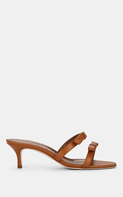 Sapikala Leather Sandals Manolo Blahnik barneys.com $745.00 SHOP NOW Barely there sandals are back, and this tan pair features slightly wider straps that won't dig.