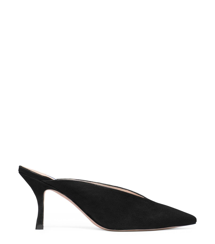 The Lulah Mule Stuart Weitzman stuartweitzman.com $365.00 SHOP NOW In soft suede, this slip-on mule is cut with feminine curves to hug the foot for lasting comfort.