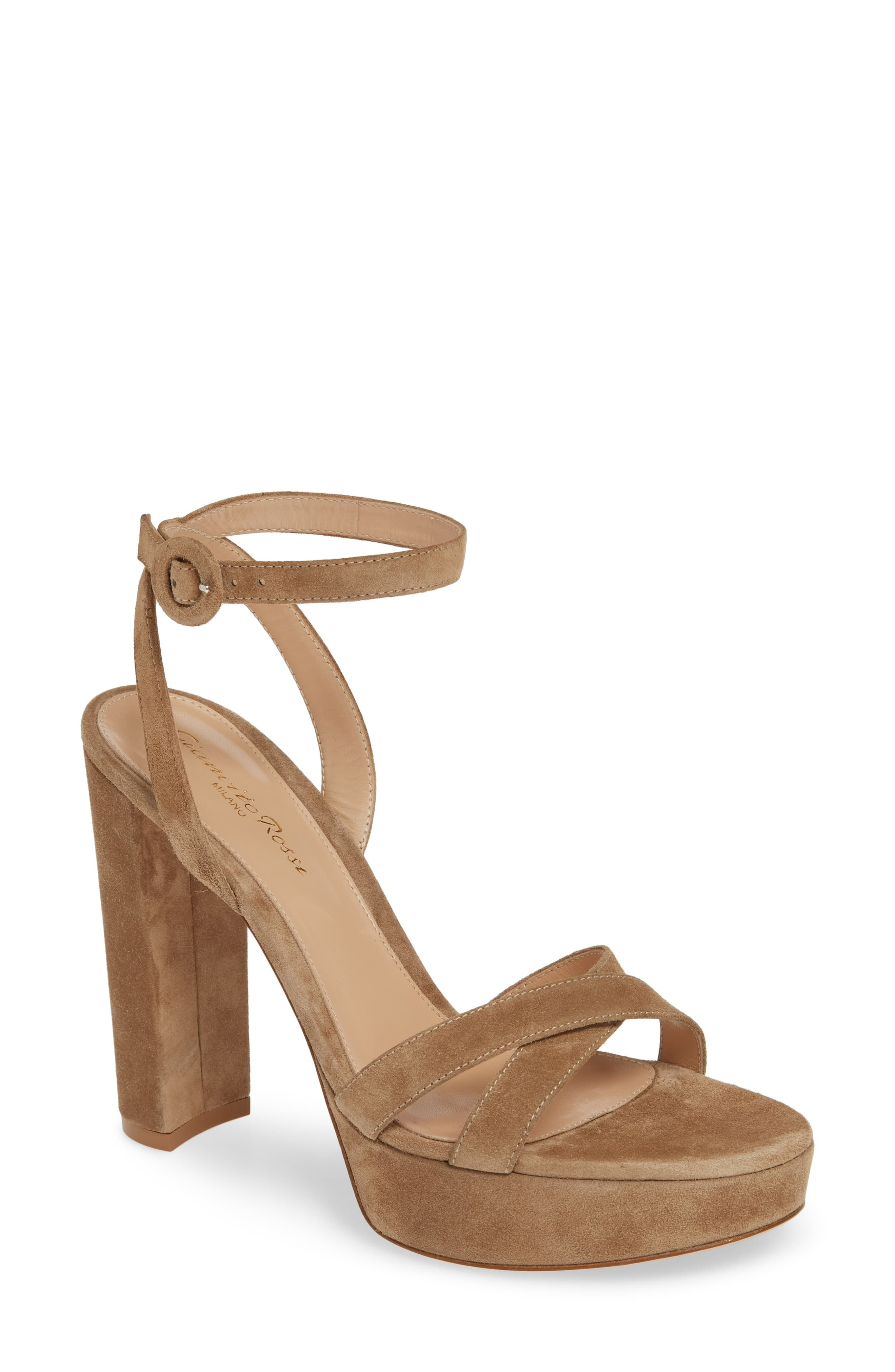 Ankle Strap Platform Sandal GIANVITO ROSSI nordstrom.com $845.00 SHOP NOW The dream team in shoe form: A thick platform, chunky heel, and secure wrap-around ankle straps.