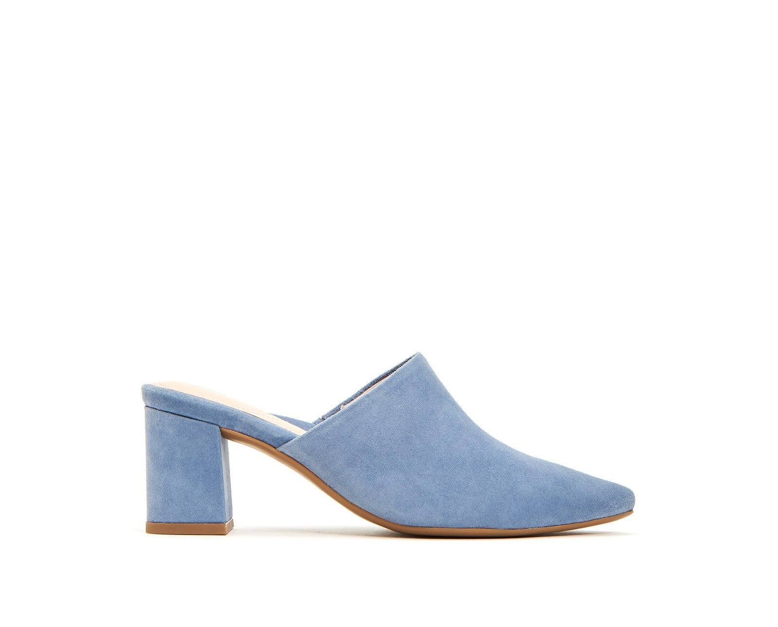 Madisson Taryn Rose tarynrose.com $42.00 SHOP NOW With a shock absorbing foam foot bed, you can count on these blue suede mules to last from 9am to 5pm and beyond.