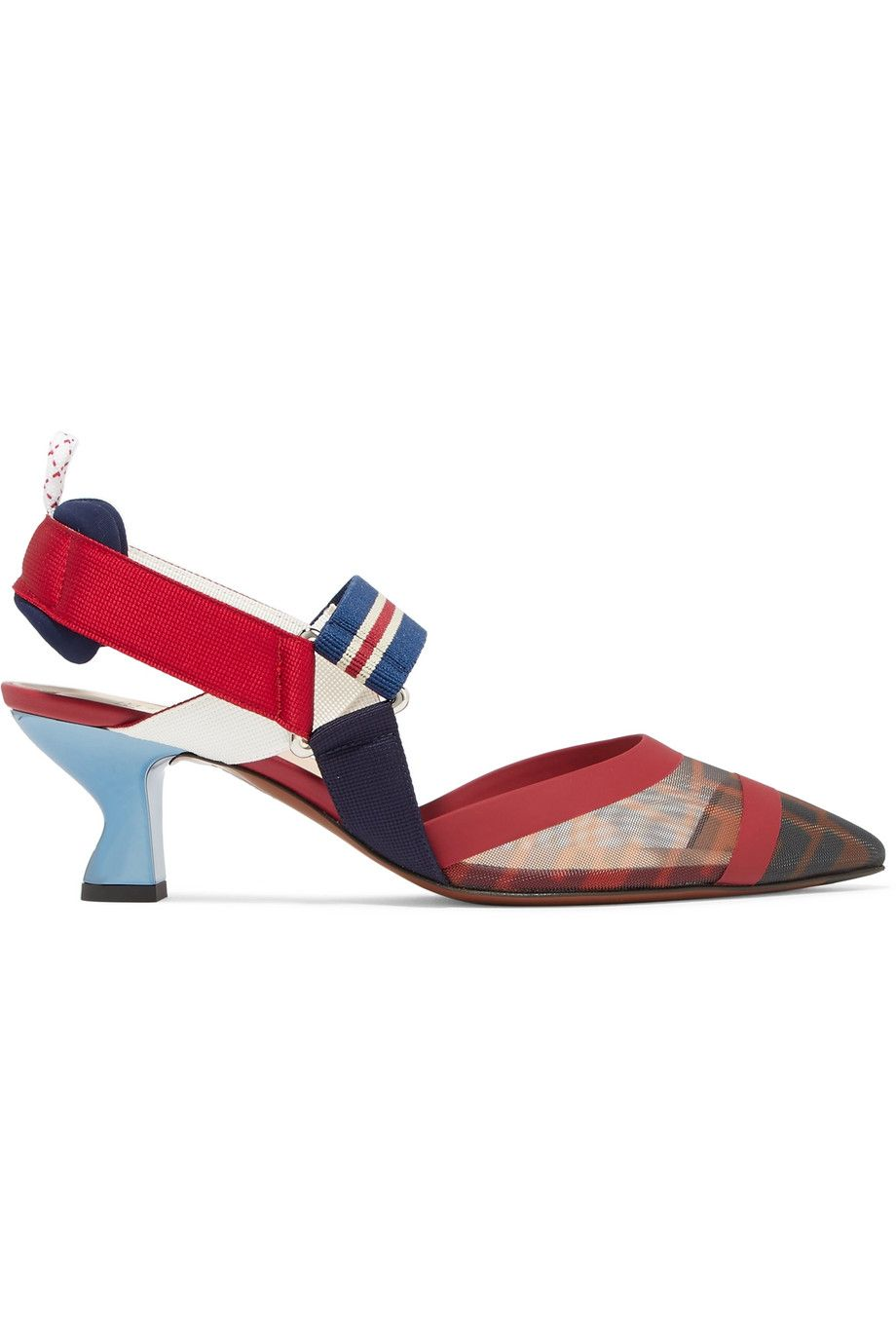 Colibrì Logo-Print Mesh and Rubber Slingback Pumps Fendi net-a-porter.com $850.00 SHOP NOW Wear these sling backs for any important meeting you may have.