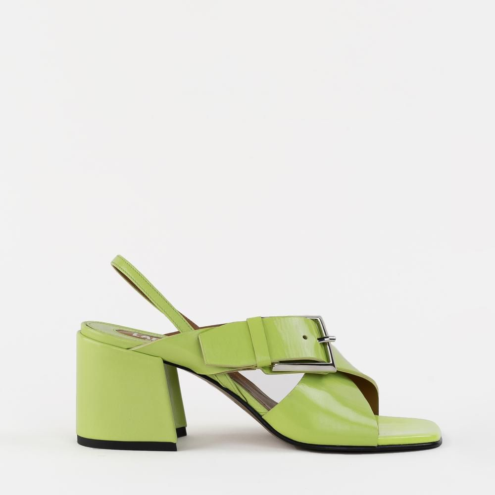 Chan Lime Patent labucq.com $355.00 SHOP NOW If you've wanted to try the sandals with socks trend, star with these.