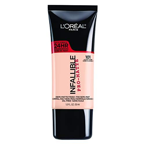 For a Drugstore Budget Infallible Pro-Matte Liquid Longwear Foundation Makeup L'Oréal Paris $12.99 $10.97 (16% off) SHOP NOW Celebrity makeup artist Beau Nelson suggests this lightweight, creamy foundation from L'Oreal that offers full matte coverage and doesn't budge the entire day.
