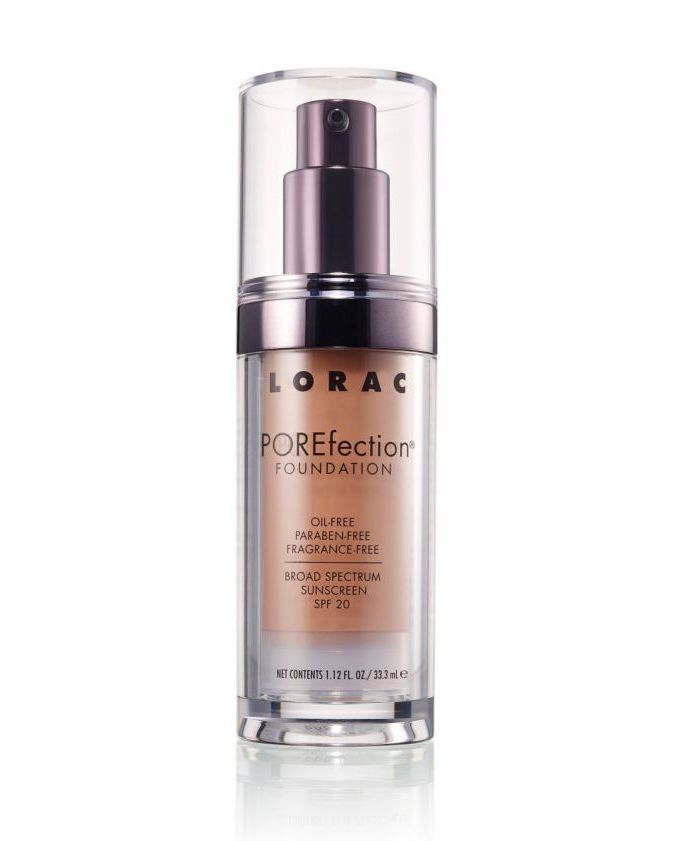 For Medium Coverage Porefection Foundation Lorac $38.00 SHOP NOW Get a silky (not shiny!) looking medium to full coverage finish with this foundation made for diminishing the appearance of pores. It contains lemon and papaya extract for astringent properties, anti-inflammatory olive leaf extract, and skin-nourishing vitamins A and E.