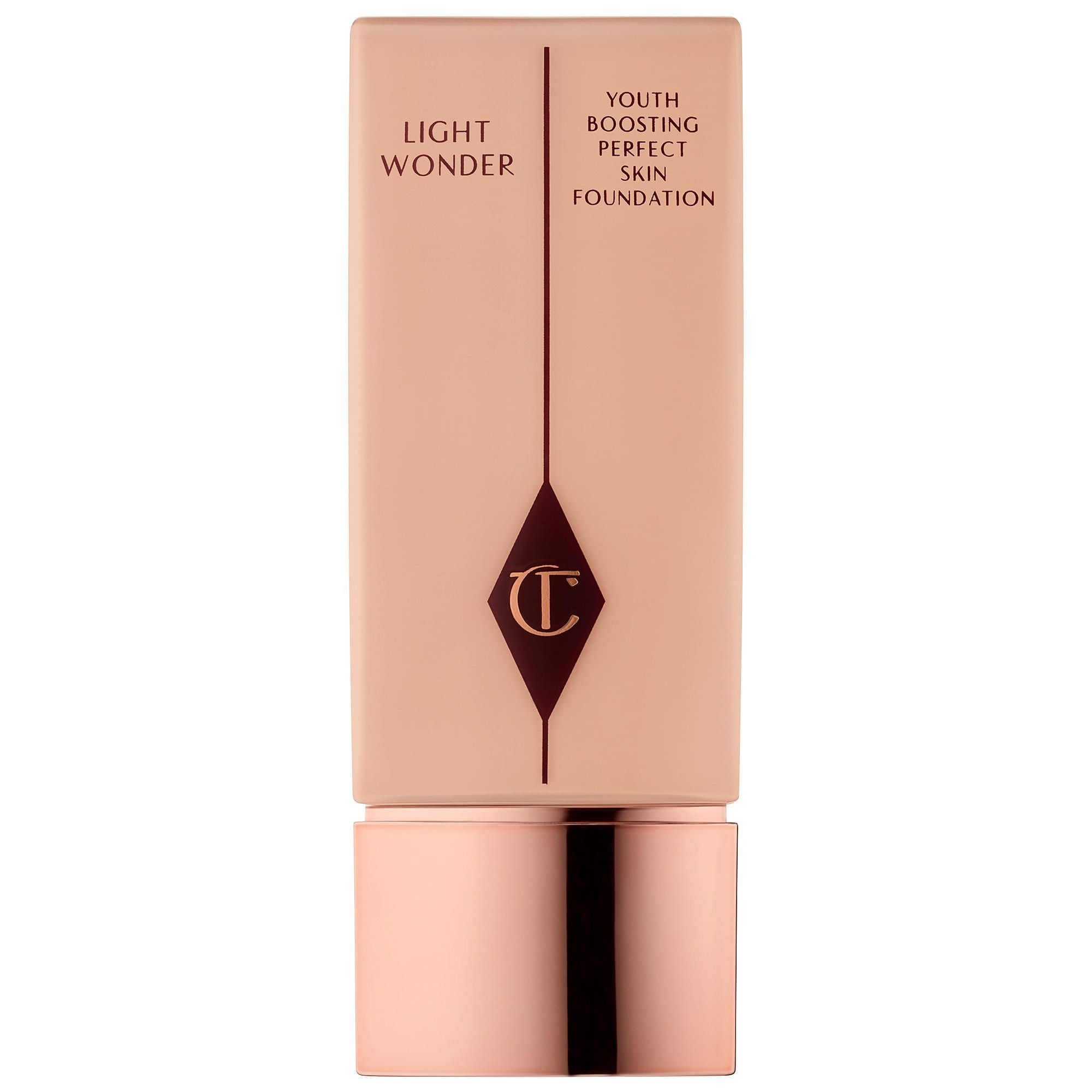 For Plump-Looking Skin Light Wonder Foundation Charlotte Tilbury sephora.com $46.00 SHOP NOW There's a fine line between luminous and greasy skin, but those with oily skin can achieve the former with Charlotte Tilbury's foundation. You get full coverage without the heavy feeling along with a host of other benefits, like boosted collagen production.