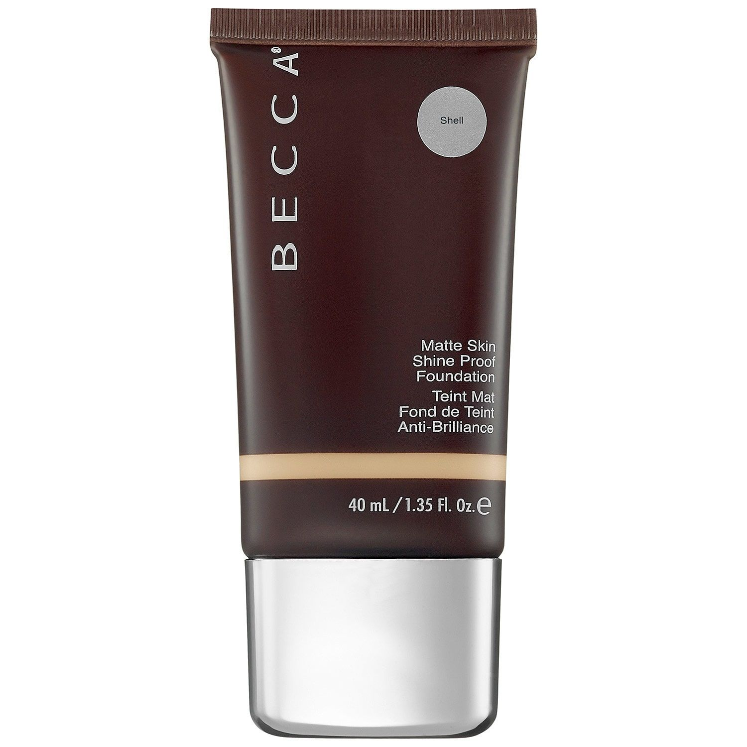 For Zero Shine Ever-Matte Shine Proof Foundation Becca sephora.com $42.00 SHOP NOW Becca Shine is packed with a microfine powder that works to absorb oil on your face all day so you stay shine free. The bonus vitamins E and A provide antioxidants.