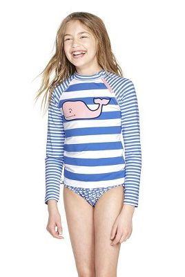 c2d91457853f1 Girls' Pink Whale Striped Graphic Rashguard. vineyard vines for Target  target.com. $14.00. SHOP NOW. Toddler Boys' School of Whales Swim Trunks
