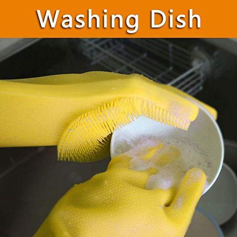 "Amazon's ""Magic"" Silicone Dishwashing Gloves Will Make You Never Buy  Sponges Again"