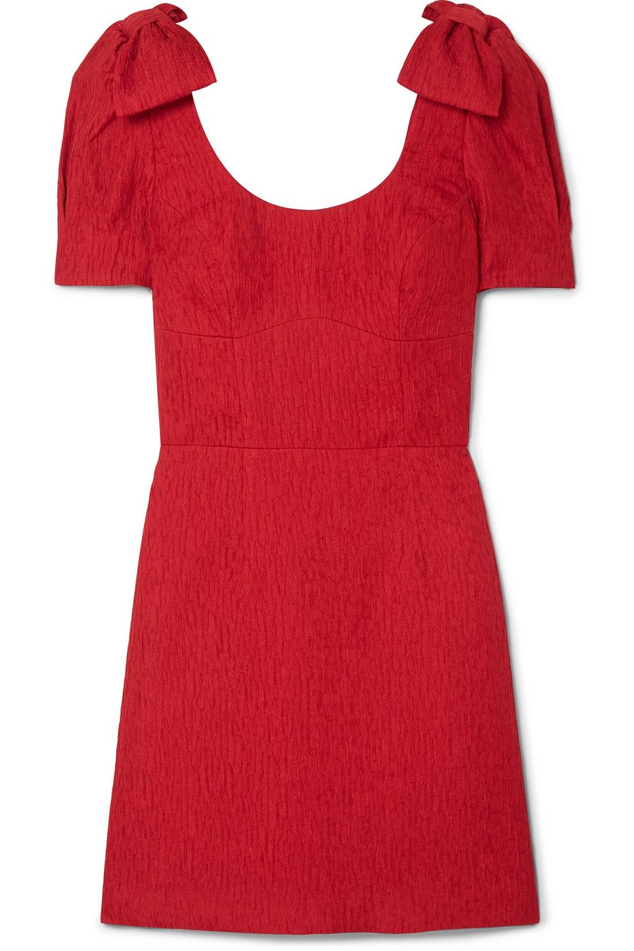 """Harlow Mini Dress Rebecca Vallance net-a-porter.com $212.50 SHOP NOW """"I'm a sucker for bows and a big believer in having one nice, ladylike dress for special occasions. The nice thing about this red dress is that it's season-neutral and relatively event versatile: the rich red is good for fall, spring, summer and even a fancy Valentine's Day date, while the silhouette is appropriate for a cocktail or a daytime wedding with the right accessories. The bows on the sleeves give dress a girly flair that's grown up and not too outlandish. They're what set this dress apart. I'm not the type who could ever afford to pay the full $425 for this dress. But half off? I'll take it as a special treat.""""— Alyssa Bailey, News Editor"""