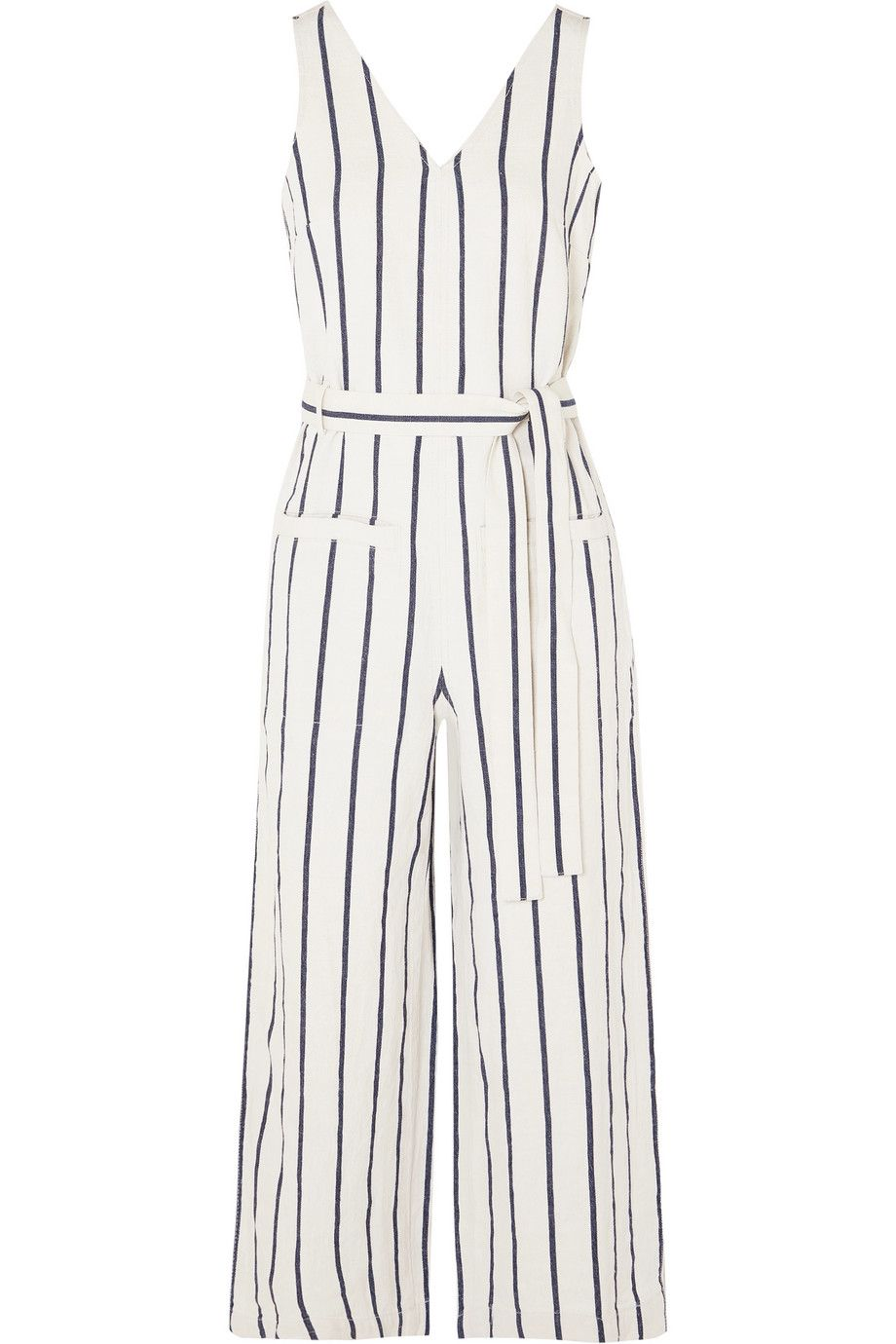 """Striped Jumpsuit Madewell net-a-porter.com $98.00 SHOP NOW """"In all honesty, who doesn't love a great jumpsuit? This one from Madewell checks off my two major boxes by being comfortable and breathable thanks to the blend of cotton and linen. Since it's literally one piece, I hardly have to give my outfit any thought, which is perfect for when I want to spend less time getting dressed and more time getting out the house.""""— Starr Bowenbank, Fellow"""