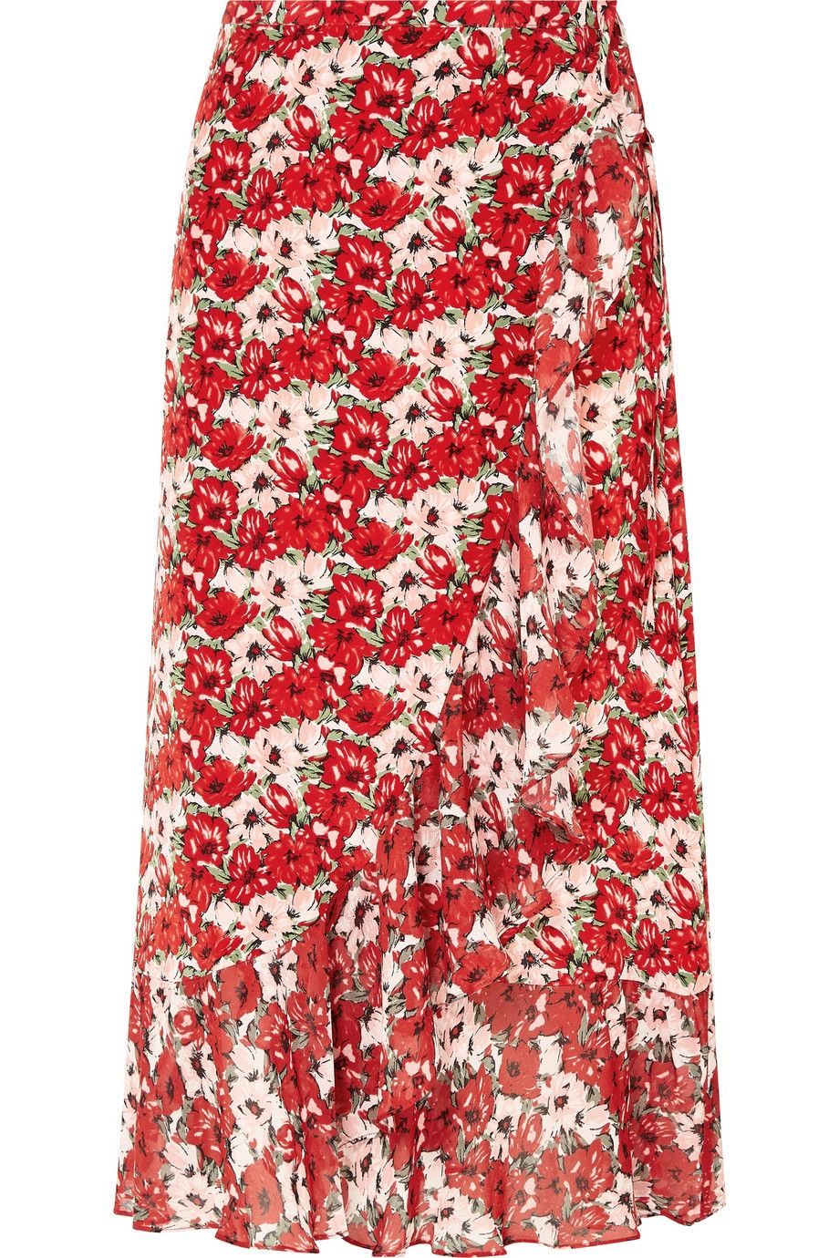 """Gracie Wrap Skirt Rixo net-a-porter.com $227.50 SHOP NOW """"I've decided that all I want to wear to work this summer are midi skirts. They're long enough that I never have to worry about an unexpected gust of wind, they work with pretty much any shoe, and they're almost always office appropriate. This one in bright red makes me happy every time I look at it.""""— Madison Feller, Staff Writer"""