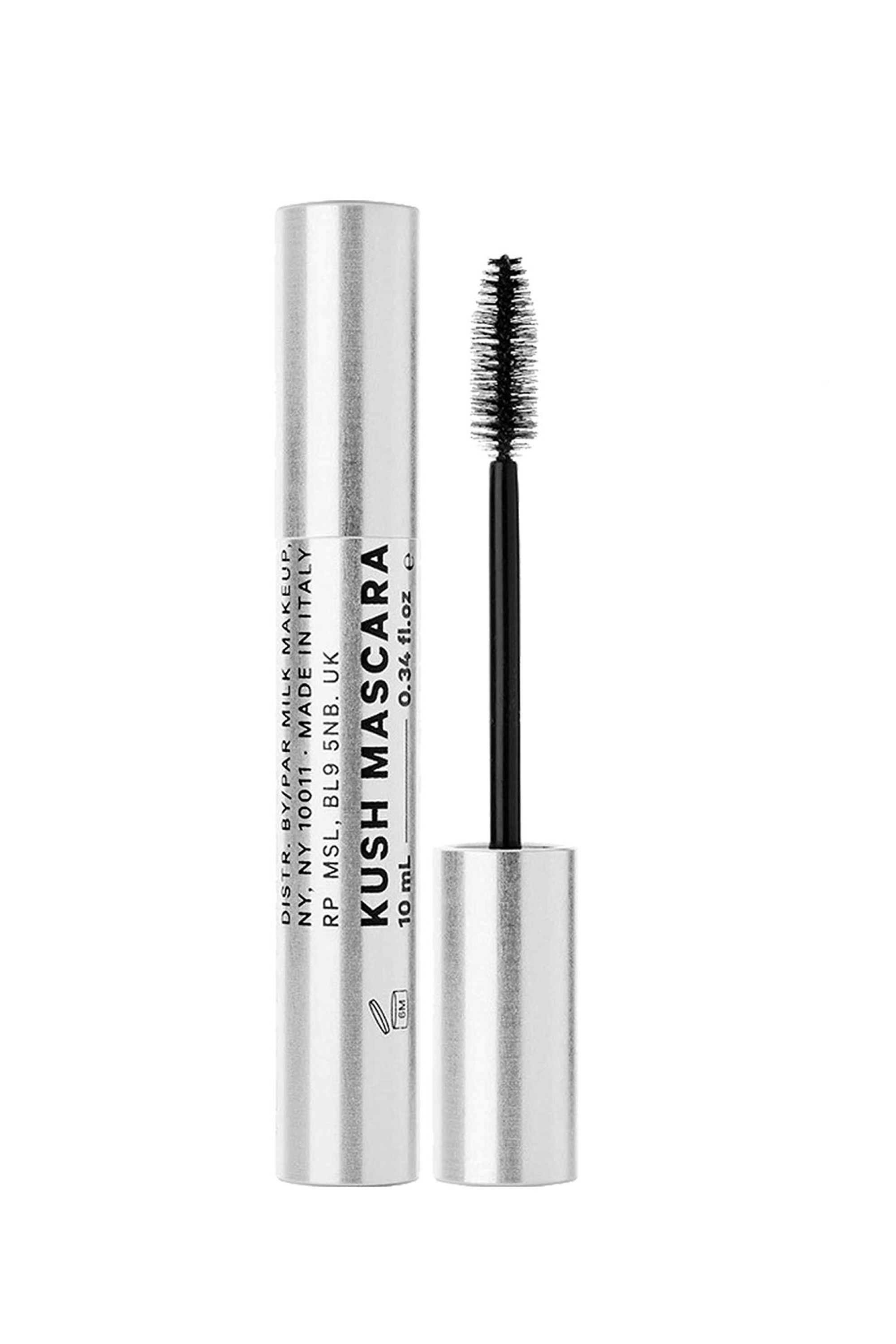 """Kush High Volume Mascara Milk Makeup sephora.com $24.00 SHOP NOW """"I really didn't care for any of the cannabis-infused beauty products being released at lightspeed but Milk Makeup's Kush Mascara is THE TRUTH. One swipe of this gave my little eyelash hairs more volume than I could ever imagine. Plus, I can layer without clumping or smudging."""" — Nerisha Penrose, Associate Editor"""