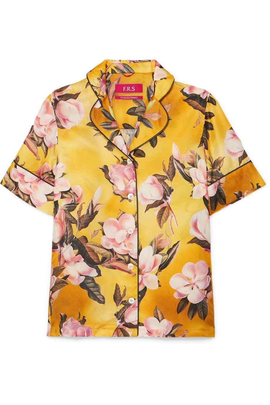 """Bendis Floral-Print Satin-Twill Shirt F.R.S For Restless Sleepers net-a-porter.com $397.50 SHOP NOW """"My go-to for summer office dressing is often a short sleeve blouse teamed with pants or culottes, so I'm definitely stocking up on shirts like this one for the summer. The bright yellow and pink flowers of this desig feel especially warm weather-appropriate."""" —Nikki Ogunnaike, Style Director"""