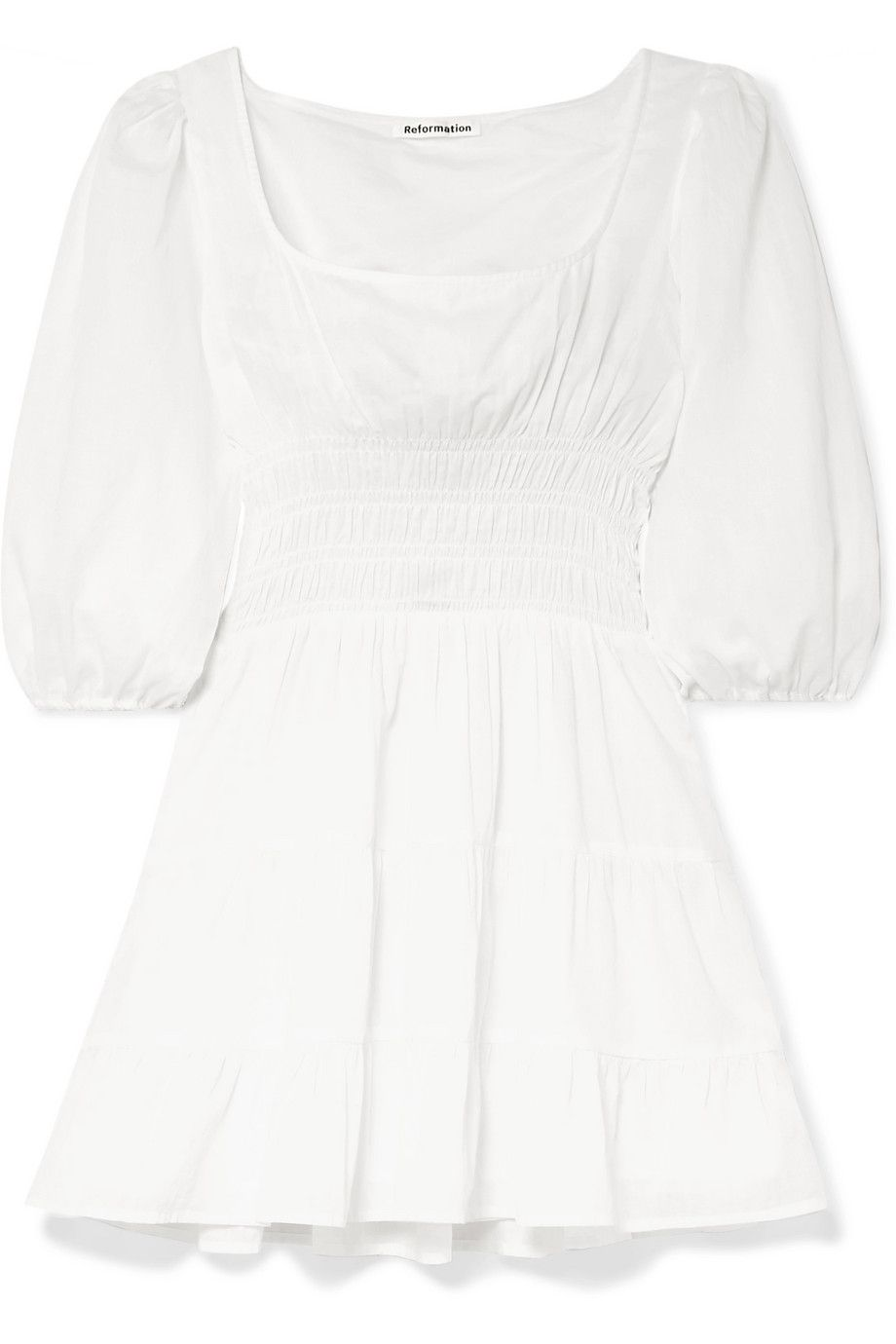 Tiered Little White Dress
