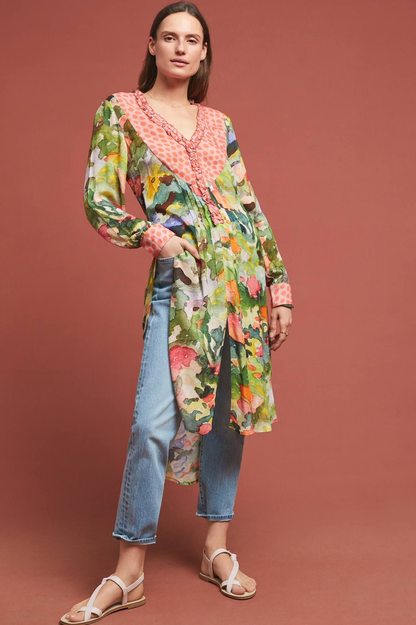 Bl-nk Anthropologie Lucia Tunic Blouse
