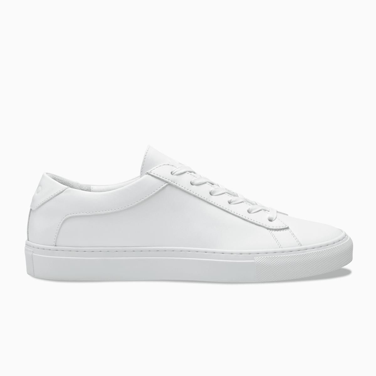 Capri Triple White Koio koio.co $248.00 SHOP NOW Perfectly sleek and buttery soft, this white sneaker comes with an ultra-comfortable and bouncy removable insole.