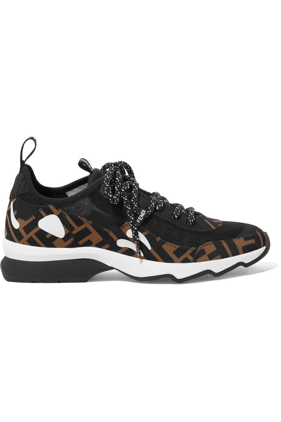 Logo-Print Appliquéd Neoprene and Mesh Sneakers Fendi net-a-porter.com $790.00 SHOP NOW The logo on this looks almost leopard like, meaning it matches with everything.