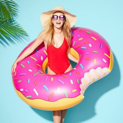 Marvelous Strawberry Frosted Donut Pool Float Andrewgaddart Wooden Chair Designs For Living Room Andrewgaddartcom