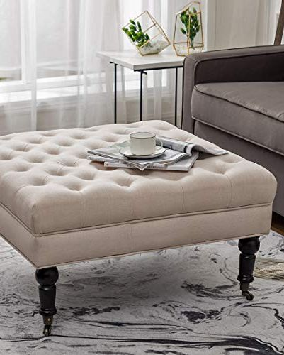 15 Best Ottoman Coffee Tables Leather Round And Tufted