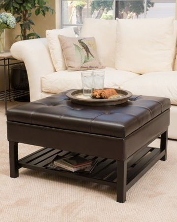Fantastic 15 Best Ottoman Coffee Tables Leather Round And Tufted Dailytribune Chair Design For Home Dailytribuneorg