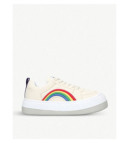 Top Canvas Applique Rainbow Sonic Low Trainers 8O0Pknw