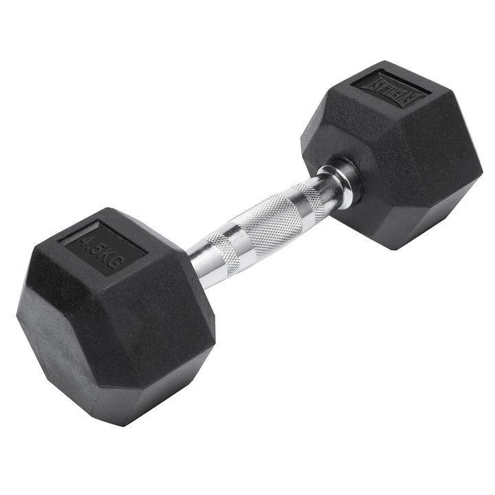 Fuel Pureformance Rubber Hex Dumbbells 8 12.5 //15 kg for ideal aerobic workout